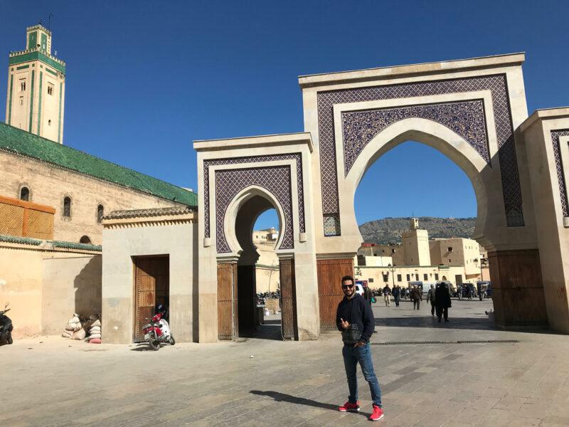 Plaza donde se sitúa el Riad